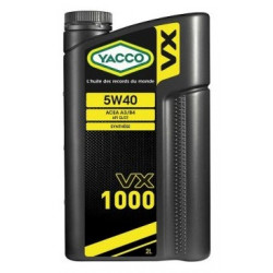 YACCO VX1000 5W40 2L engine oil