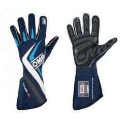 OMP One-S FIA-handskar Blå. Handskar, racinghandskar, rallyhandskar, folkracehandskar, FIA-godkända handskar.