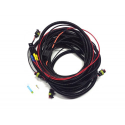 Four lamp pickup harness kit with splice