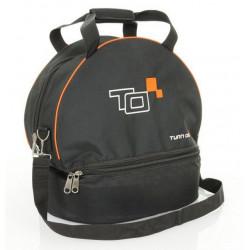 Hjälmväska med HANS-fack svart/orange