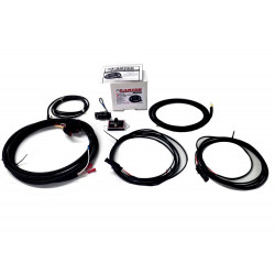 Four lamp rally kit with cartek power distribution module and LED switch panel