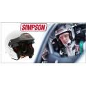FIA Rally simpson FIA 8859-2015 hjälm för rally och racing