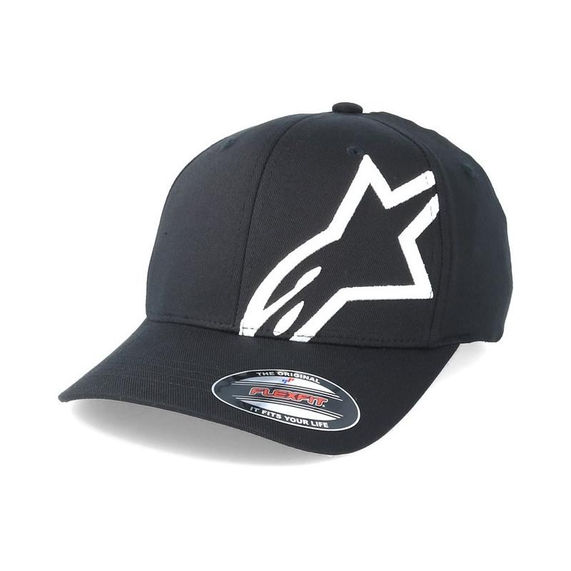 Alpinestars keps svart och vit rally racing motorsport